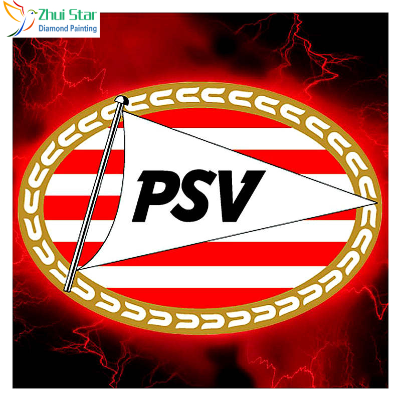 "5D Diamond Painting Full Square Rhinestones Football LOGO ""AJAX"" ""PSV"" ""FEYENOORD""3D Diamond Embroidery Mosaic Decor Gifts"