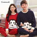 Couples Pajamas Women Autumn Cotton Long-sleeve Sleepwea Lovers Men Pyjamas Character Women Lounge Pajama Set