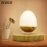 ICOCO Multi Functional Magnetic Levitation USB Charging LED Night Light Wireless Bluetooth Speaker Hot Sale Drop
