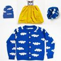 2017 new autumn winter children bobo things cloud motif sweater girls autumn baby boys Cardigan sweaters children and mother