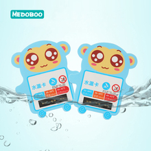 Medoboo Cartoon Baby Water Thermometer Children Shower Tub Sensor Thermometers Kids Bath Card 10