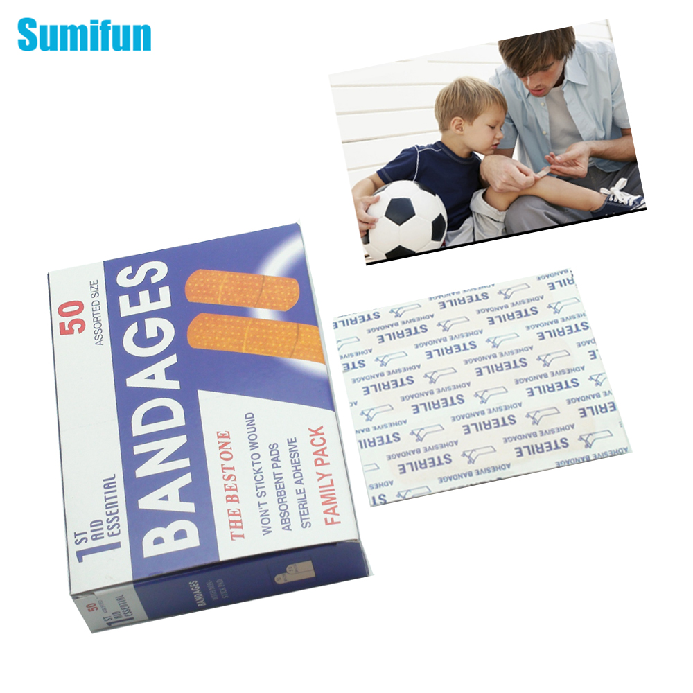 US $2 9 40% OFF|Sumifun Transparent Waterproof Breathable 2 Boxes=100pieces  Cartoon Band Aid Adhesive Bandages Plasters Kids Mixed Type Z13402-in