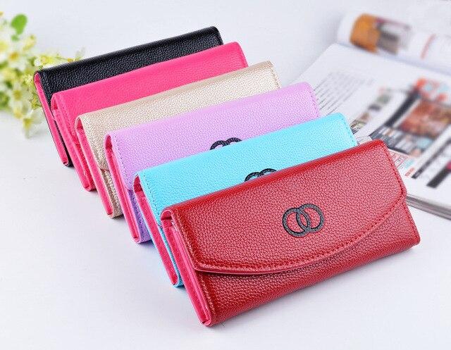 Fashion handbag simple women's wallet removable shoulder strap Ladies  Long wallet