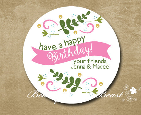 Detail Feedback Questions About Personalized Birthday Gift Sticker Party Favor Bag Labels Tags Decorations Kids Candy Box On