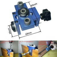 8/10/15mm 3 in 1 Drilling locator drilling guide kit 2 in 1 tenon hole Puncher Woodworking Joinery High Precision Dowel Jigs Kit