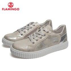 QWEST marca plantillas de cuero transpirable arco niños Deporte Zapatos gancho y bucle tamaño 33-38 niños zapatillas para G 91P-AH-1138
