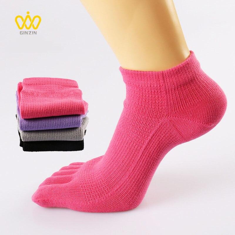 Quality Female Spring Fall Cotton Toes   Socks   Sweat-absorption Five Finger   Socks   Women Skin Casual Five-toed   Socks   Female BAC614