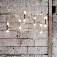 2018 Новые итальянские дизайнерские Art Кухня подвесной светильник Nordic Творческий Гостиная висит Light Hotel Спальня свет Бесплатная доставка