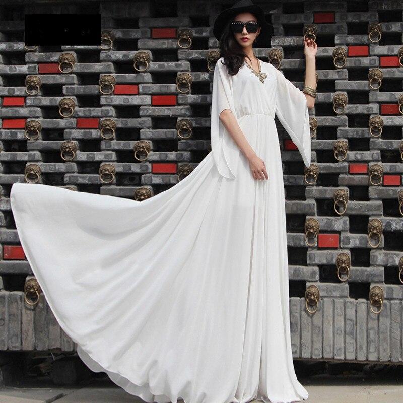 Online Shop WBCTW Dresses 6XL Plus Size Women Spring Summer Vintage Party  Wedding Bridesmaid Elegent Dress 2018 Off Shoulder Long Maxi Dress  010cdf00db4a