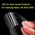 Nuevo 100 unids/lote hd clear protector de pantalla para samsung galaxy a5 2016 a510 a5100 protector de la película protectora con paño de limpieza