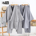 New Spring thicken 100% cotton Japanese kimono sets for men long-sleeve pajama sets men simple pijama hombre pyjamas Bathrobes