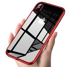 BLOSSOM Роскошные покрытием ТПУ чехол для iPhone X 10 Прозрачный Ультра Тонкий силиконовый чехол для iPhone 8 7 6 6 S плюс телефон интимные аксессуары