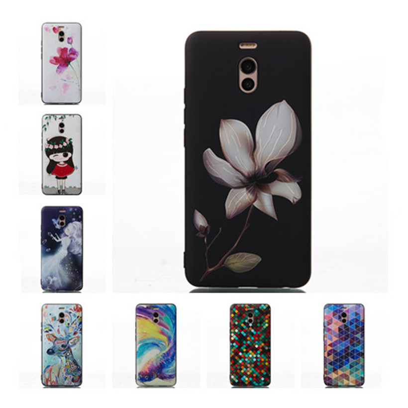 HEMASOLY Case For Meizu M6 M5 M3 Note Silicone Case For Meizu M6S M5S M3 Mini M3X Case 3D Relif Painted Phone Shell