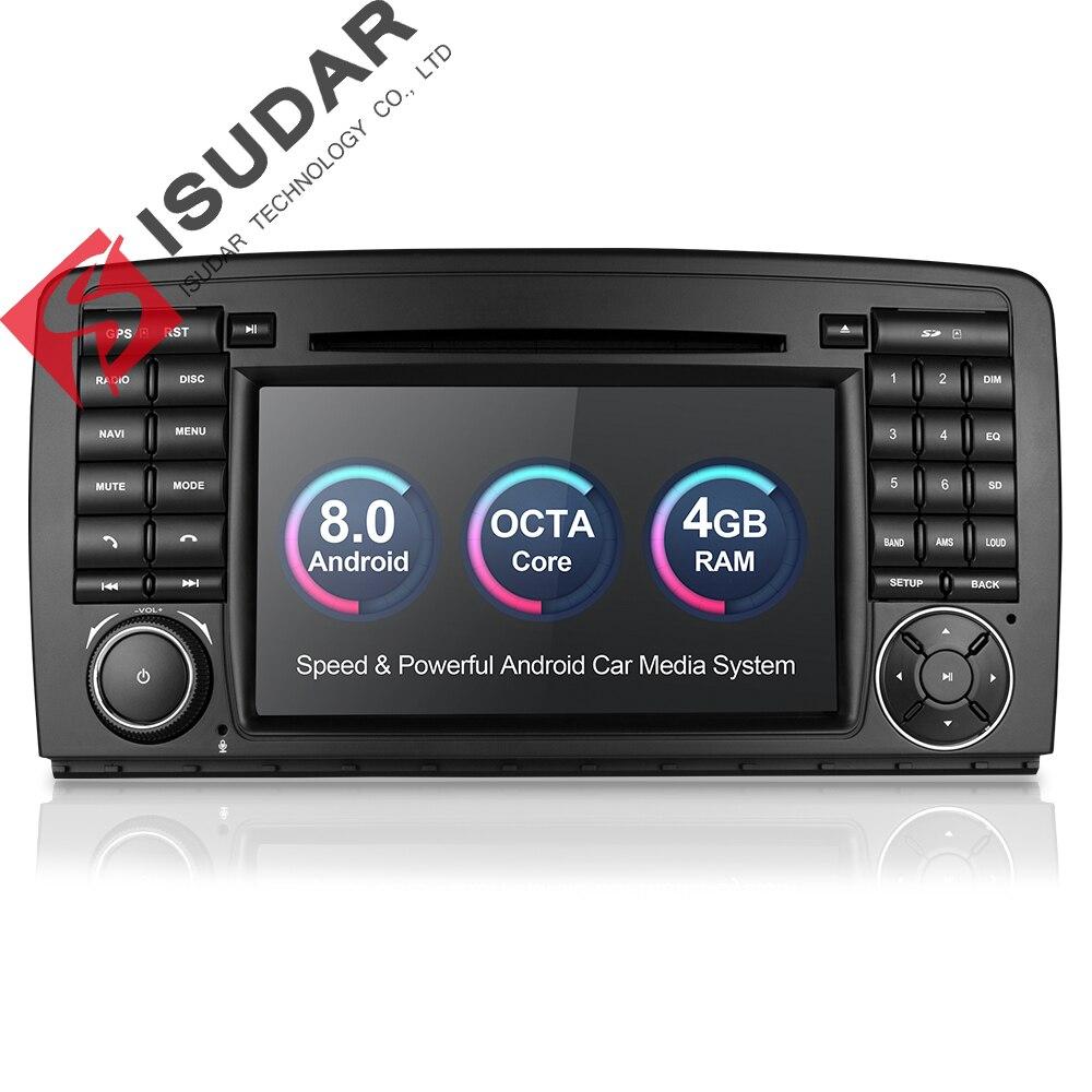 Isudar lecteur multimédia De Voiture autoradio GPS Android 8.0 2 Din chaîne hi-fi Pour Mercedes/Benz/AMG R Classe W251 R300 r350 R63 Wifi