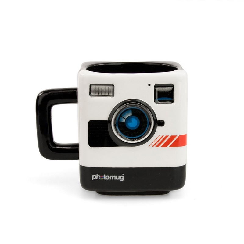 Creative PHOTO MUG Authentic Camera Cup Keller Polaroid Camera Shape Mugs Cool Creative Lens Cup Photographer Gifts