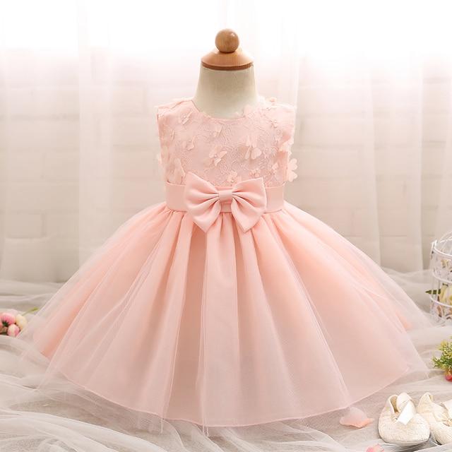 41176ba1fd6f Flower Baby Girls Kids Baptism Dress Summer Tutu Wedding Party Dress For  Girl 1st Birthday Outfits Infant Baby Clothing Vestidos