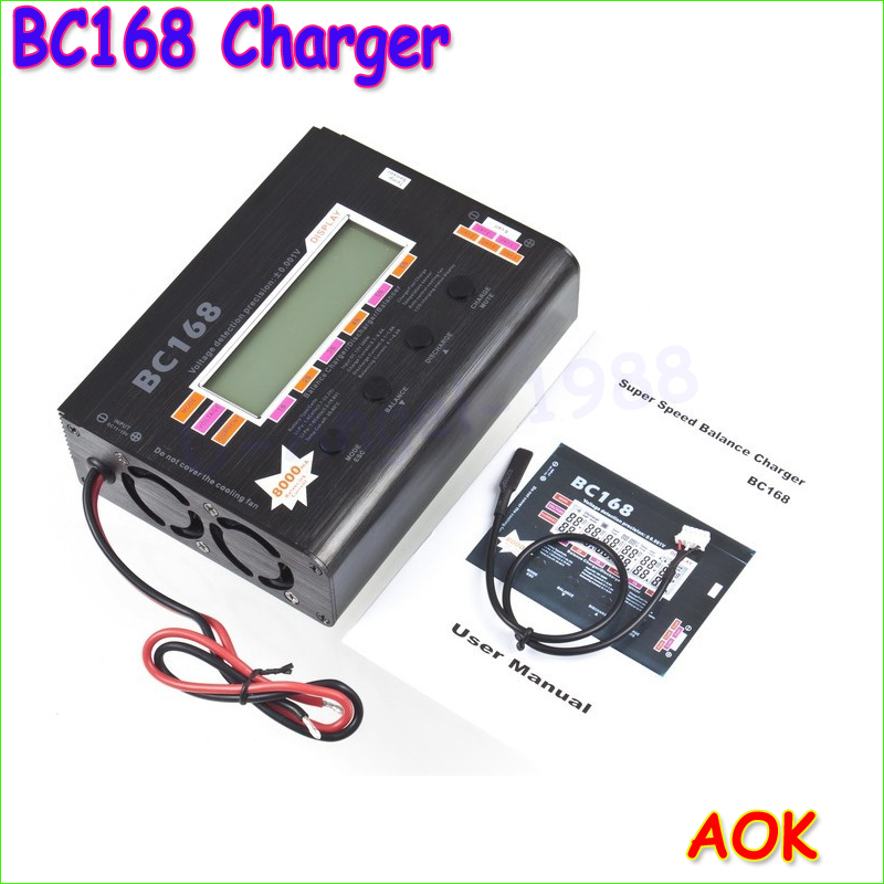 Wholesale 1pcs AOK BC168 1-6S 8A 200W Super Speed LCD Intellective Balance Charger/Discharger rc helicopter part wholesale 1pcs aok bc168 1 6s 8a 200w super speed lcd intellective balance charger discharger rc helicopter part