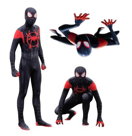 Haute qualité adulte enfants hommes Halloween noir Spiderman Cosplay Costumes Venom Lycra Zentai super-héros costume
