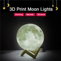 Sạc 3D In Trăng Đèn 16 Thay Đổi Màu Điều Khiển Từ Xa Phòng Ngủ Tủ Sách Ánh Sáng Ban Đêm Trang Trí Nội Thất Món Quà Sáng Tạo