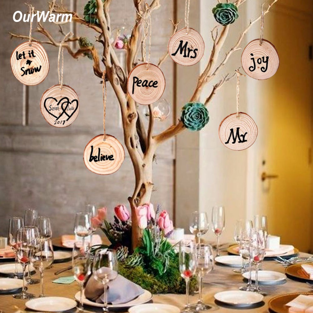 Aliexpress.com : Buy OurWarm 50Pcs Wooden Pendant