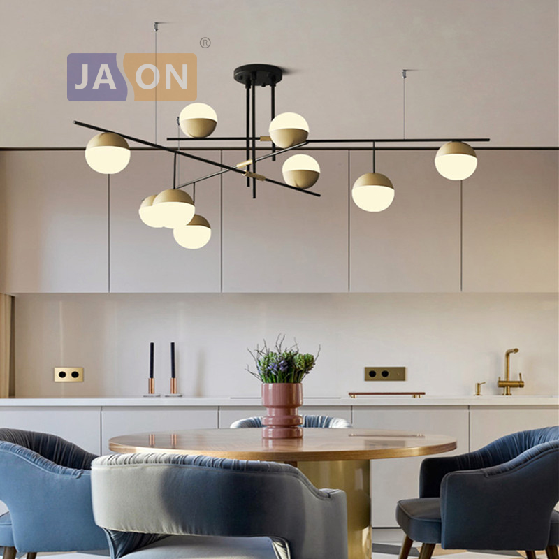 E27 Modern Iron Glass Black Gold Chandelier Chandelier Lighting Lamparas De Techo Suspension Luminaire Lampen For Dinning RoomE27 Modern Iron Glass Black Gold Chandelier Chandelier Lighting Lamparas De Techo Suspension Luminaire Lampen For Dinning Room