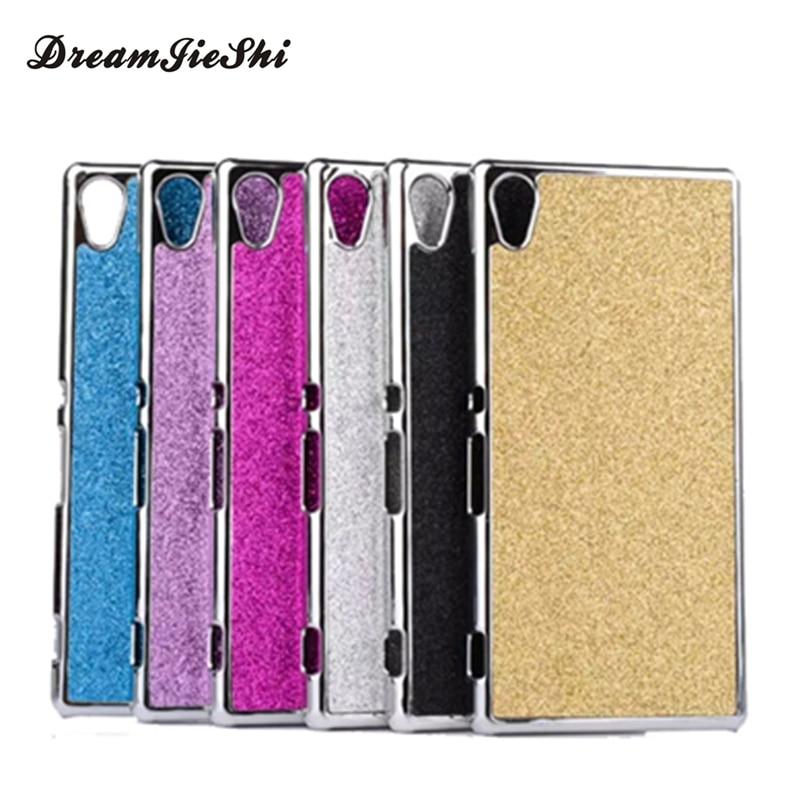 Plastic Plating Bling Shiny Glitter Hard case Cover For Sony Xperia M4 Aqua Dual E2303 E2333 E2353 cases ,  Mobile Phone Cases
