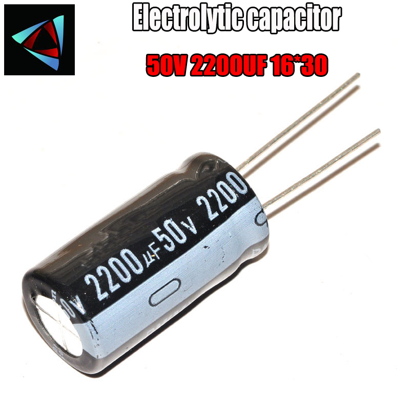 2PCS Higt Quality 50V2200UF 16*30mm 2200UF 50V 16*30 Electrolytic Capacitor