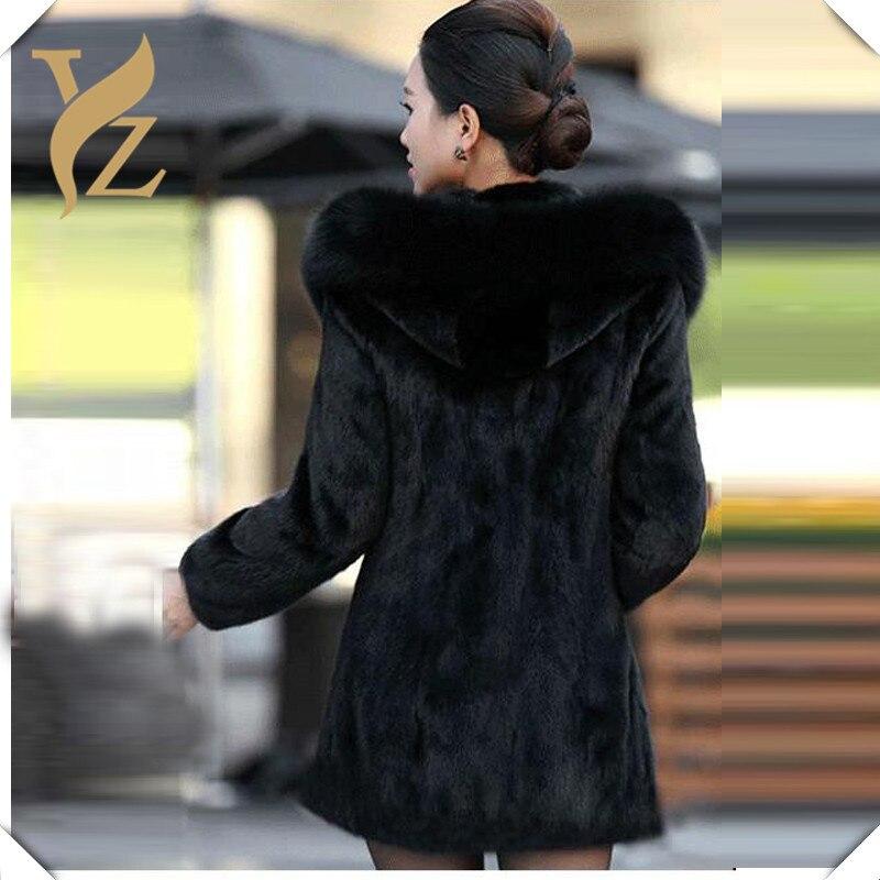 Femmes black Manteau Dropshipping Manteaux Red Capuche De Vestes Chaud Wine D'hiver Peau En Green 80cm Avec 80cm Renard Col dark Designer Lapin L'ensemble Fourrure black 100cm Noir 80cm rXwXZnxTqS