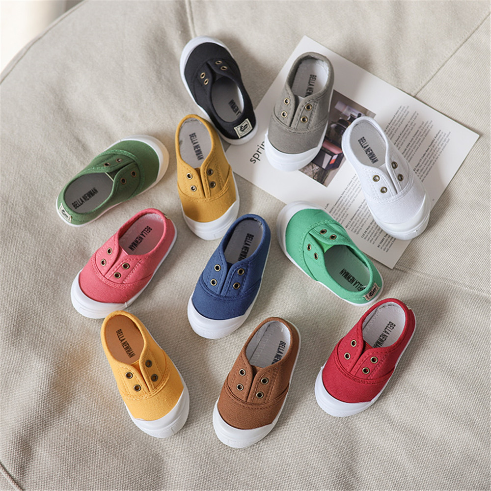 Baby Junge Mädchen Leinwand Schuhe Kinder Beiläufige Turnschuhe Kinder Laufen Sport Weiche Schuhe Candy Farben Neue Trend Mode Schuhe Für Jungen Online Shop