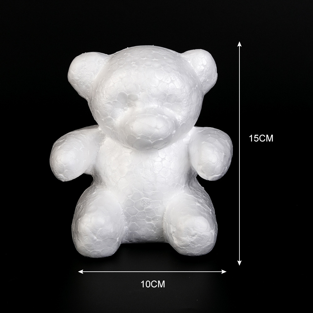 Image 5 - 1Pcs Polystyrene Styrofoam White Foam Bear Mold Artificial Flower Head Rose Teddy Valentine's Day Gifts Party Wedding Decoration-in Artificial & Dried Flowers from Home & Garden