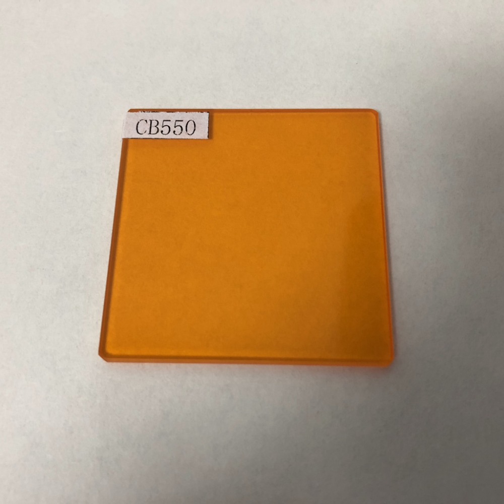 Taille 100x100x3mm jaune 550nm filtre passe-bande