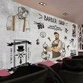 Индивидуальные Европейский 3D большой творческий бетонная стена ручная роспись тема фрески парикмахерская салон фоне стены обои