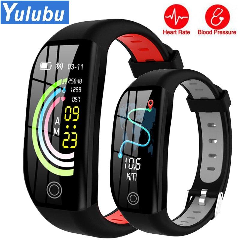 Yulubu New F21 1.14 inch big screen Smart Bracelet Blood Pressure Heart Rate Monitor Fitness Tracker GPS motion track Smart band