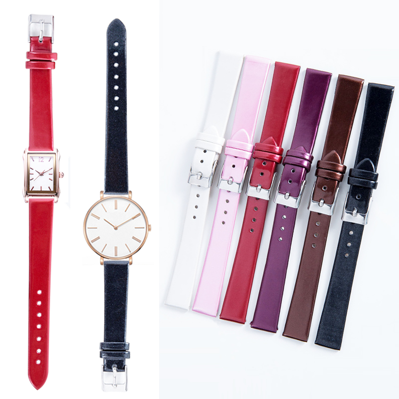 Watchbands PU Leather Watch Band Straps 14mm Width Watch Accessories High Quality 6 Colors Women Men Watchbands