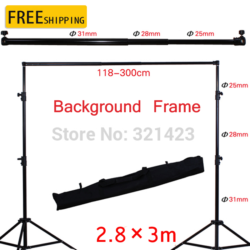 Free Tax To Russia Photo Studio 2.8x3m Photography Adjustable Background Support Stand Photo Backdrop Crossbar Kit photo studio 2 6 3m adjustable background support stand photo backdrop crossbar kit photography equipment
