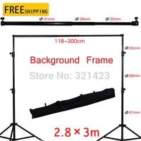 Photo Studio 2 8x3m Adjustable Background Support Stand Photo Backdrop Crossbar Kit Photography