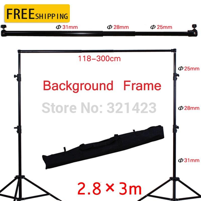 Support de fond pour Studio Photo Support de photographie réglable 2.8x3 m Kit de barre transversale pour Photo