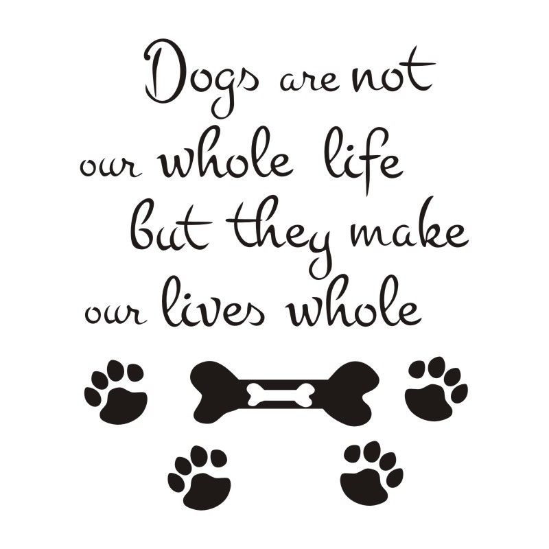 Dogs Paw Print and Bone Wall Stickers Quotes Removable