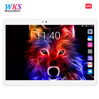 WKS Newest Octa Core 3G Tablet PC 4GB RAM 64GB 32GB ROM Dual Cameras 5MP Android Tablet Android 7.0 10.1 inch