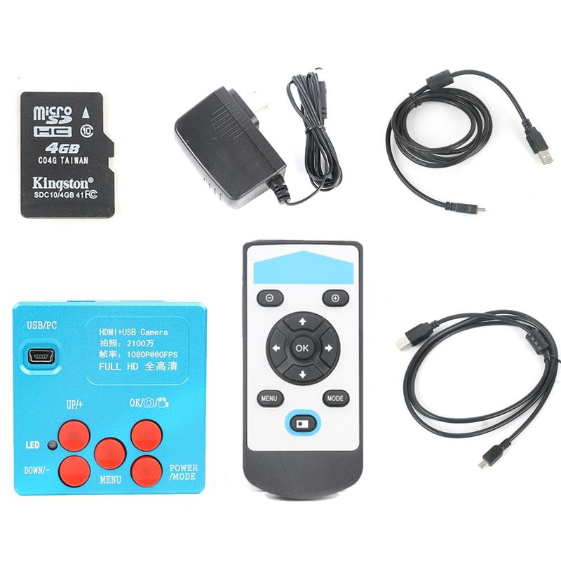 21MP HDMI 1080P HD usb digital Industry Video Inspection Microscope Camera Set TF Card Video Recorder