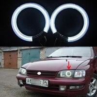 2 pcs/paire Ccfl Ange Yeux kit Blanc 6000 k Ccfl Halo Anneaux phare pour toyota carina e 1994 12 V Voiture Parking Lumière source
