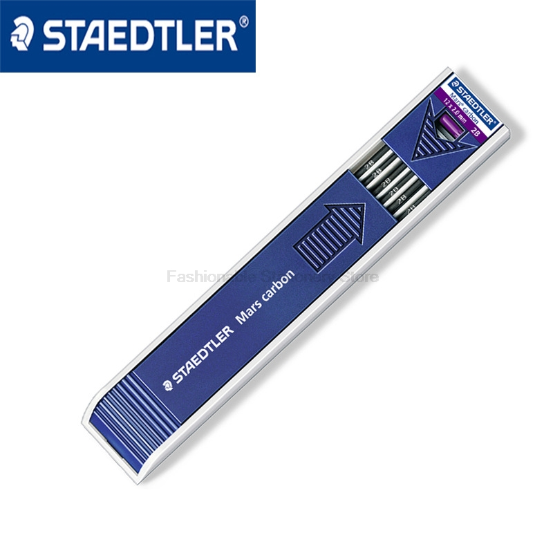 12 pcs/Set STAEDTLER Mechanical pencil refills 2.0mm High quality Lead core brand high quality electric eraser with extra refills