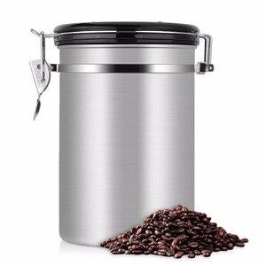 Image 5 - Recipiente de feijão café grande hermético aço inoxidável café chá sortage vasilha preto cozinha sotrage para organizador cozinha