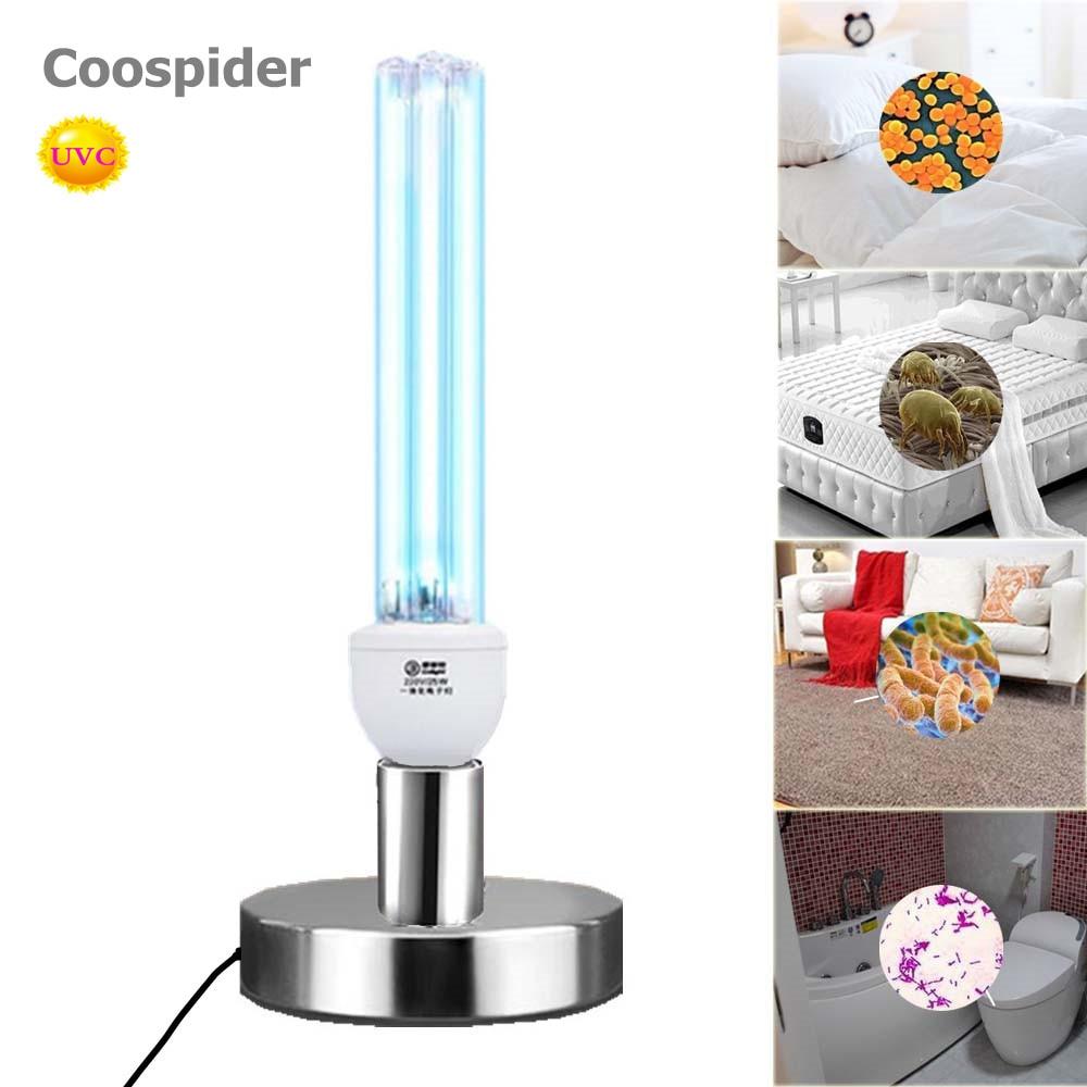 Кварцевый UVC бактерицидные стерилизация CFL озоновая лампа лампы ультрафиолетовый свет E27 базы для дезинфекции бактериальных убить клещей Д...
