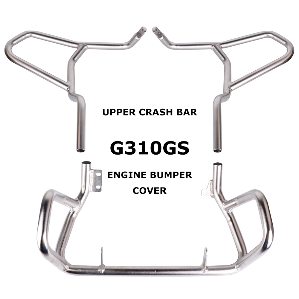 For BMW G310 GS G310GS 2017-On Tank protector Upper Carsh Bars Guard Engine Bumper Cover For BMW G 310R <font><b>G310R</b></font> 2017-On image