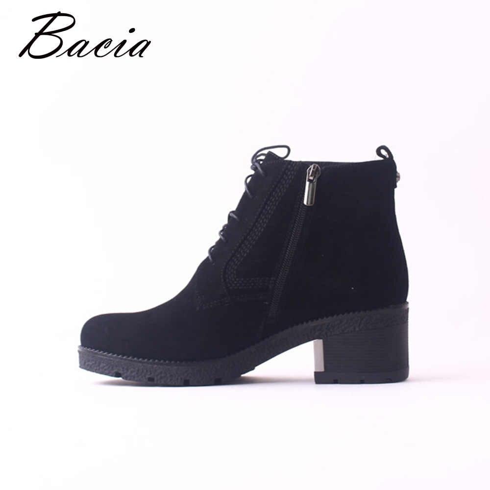 75f957a40 ... Bacia/Зимние Модные женские ботинки из натуральной овечьей кожи, замшевые  зимние ботинки, классические ...