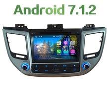 "8"" Android 7.1 Quad Core 2GB RAM 4G WiFi Multimedia Car DVD Player Radio Stereo GPS Navi For Hyundai IX35 Tucson 2015 2016 2017"