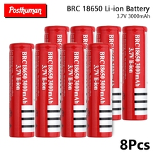 POSTHUMAN  For Electronic cigarette Power battery power high discharge Rechargeable BRC large 18650 Battery 3.7V 3000mAh