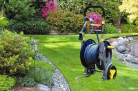 Metal hose reel cart for 50m garden water hose