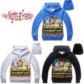 Cinco Noites na Freddys Meninos Urso Dos Desenhos Animados Com Capuz T camisas Dos Miúdos sweatershirts Hoodies do Algodão das Crianças camisas de T para meninos
